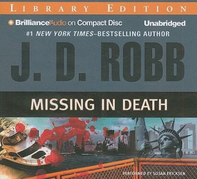 Missing in death by J. D. Robb, (1950-)