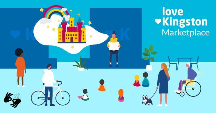 Cartoon of Love Kingston Marketplace