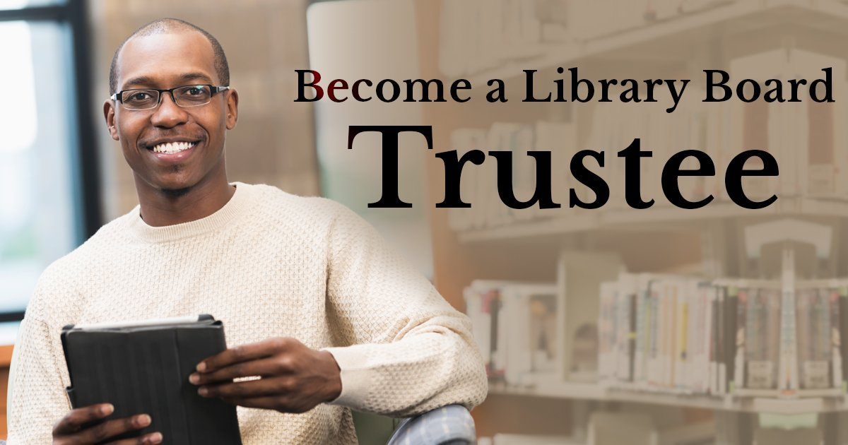 Become a Library Board Trustee