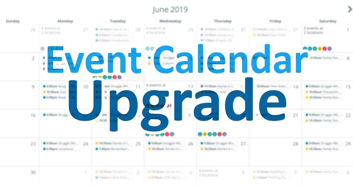 Event calendar upgrade