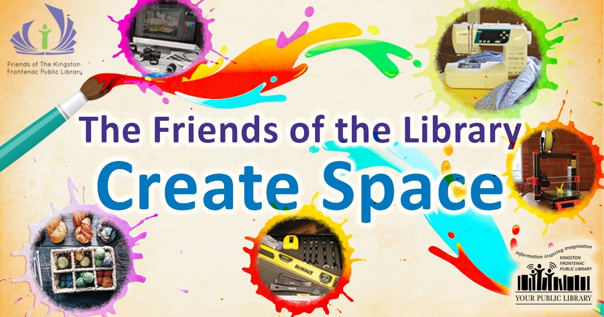 The Friends of the Library Create Space