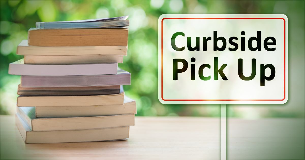 Curbside pick up with image of books
