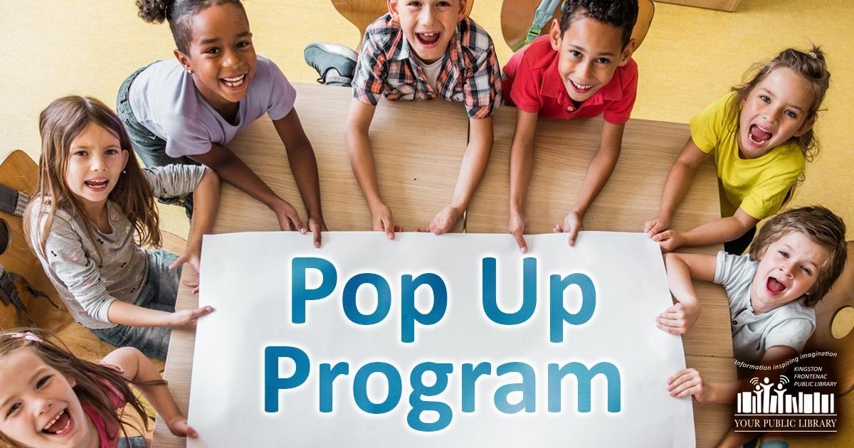 Pop Up Program image of happy children