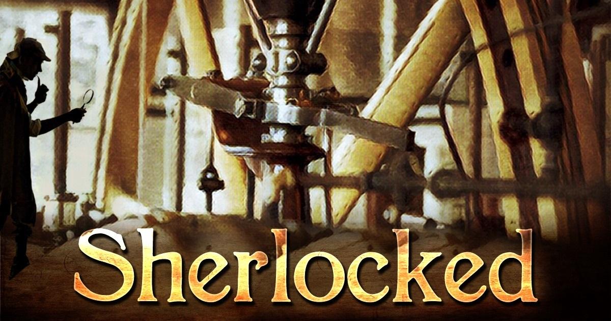Sherlocked. Silhouette of Sherlock Holmes in an industrial setting.