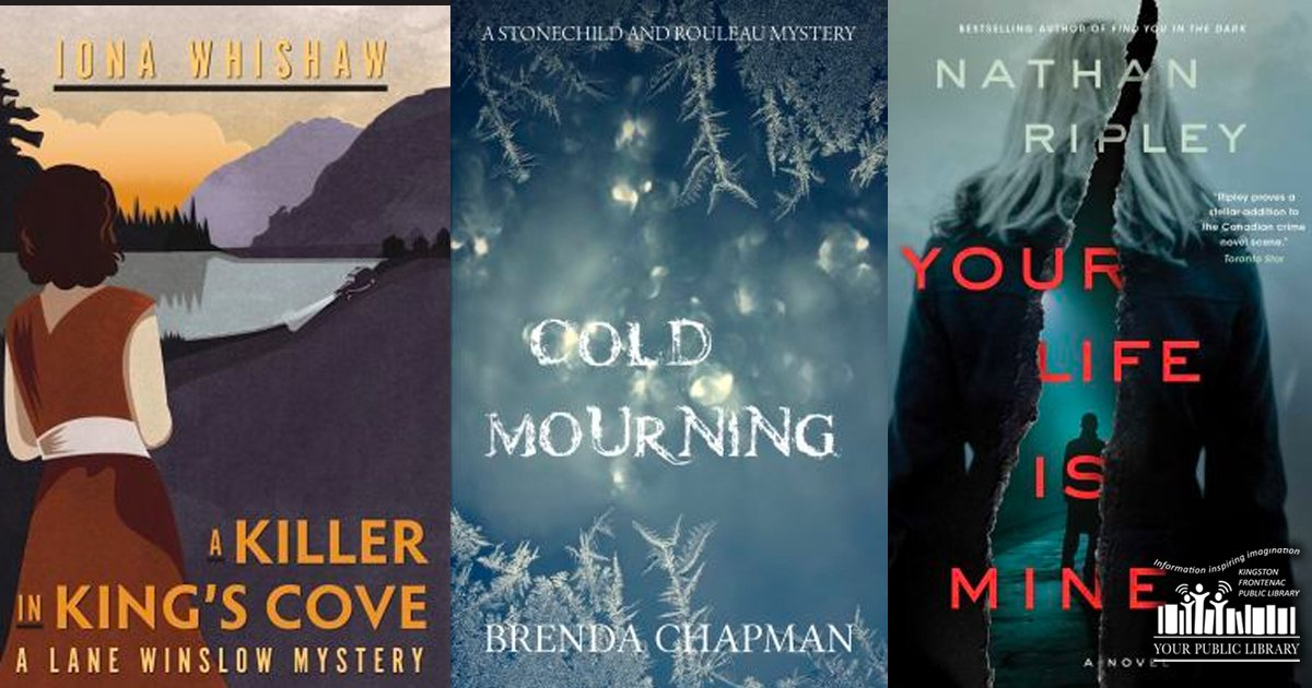 Covers of Killer at King's Cove, Cold Mouring, and Your Life Is Mine