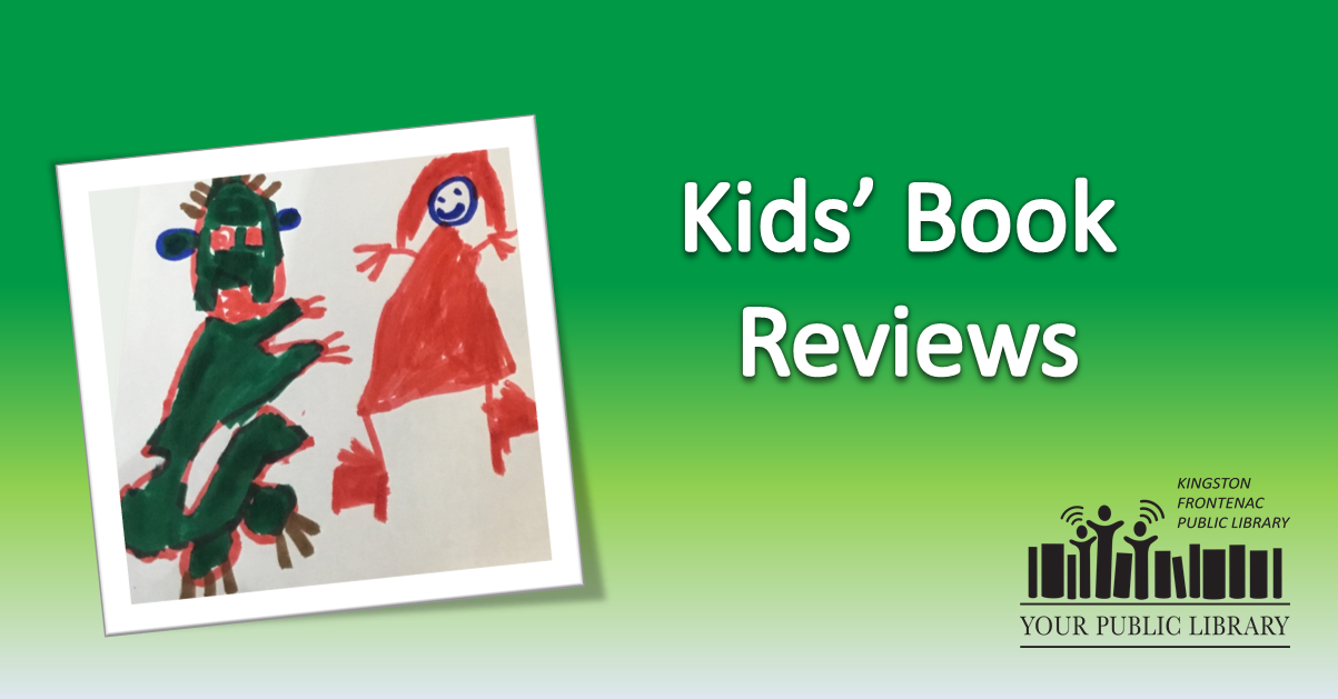 Kids' book reviews. Image of crocodile and a princess