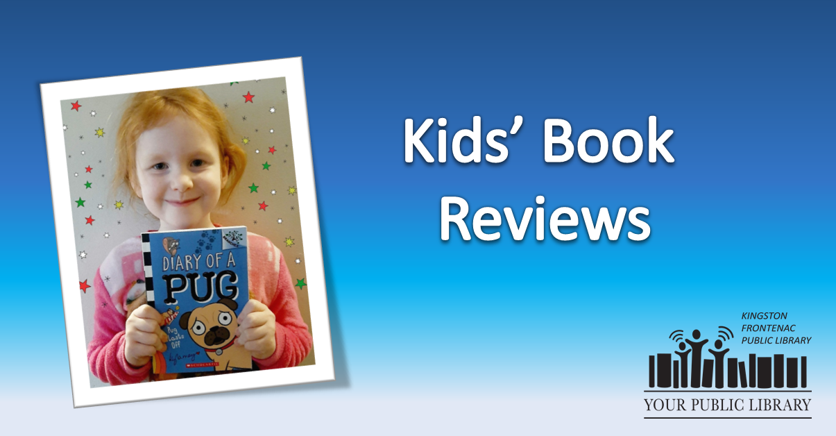 Kids' book reviews. Image of girl holding book