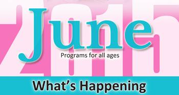 June Monthly What's Happening Flyer